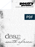 Poetry Potion 2014-2015 Dear South Africa
