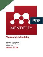 Manual Mendeley enero 2020