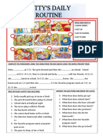 Bettys Daily Routine Fun Activities Games PDF Mayo 14 Class