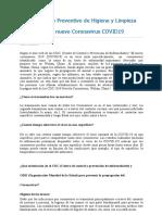 Procedimiento Preventivo Coronavirus 2020 mio