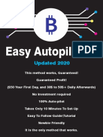 [NO INVESTMENT][UPDATED 2020] BTC Autopilot Method MAKE 700$- 900$ PER WEEK
