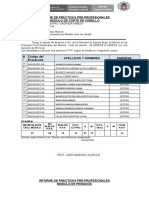 INFORME DE PRÁCTICAS PRE PROFESIONALES 2019