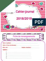 Eenvoi de Cahier Journal 20182019