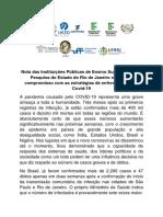 Nota das IFES e as de Pesquisa do estado do Rio de Janeiro sobre o enfrentamento da Covid-19.pdf