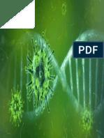 virus y ADN verde