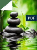 zen piedras y bambu