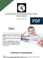 ESTRATEGIAS PSICOPEDAGÓGICAS PARA