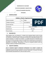 Programa Analisis y Diseño Organizacional