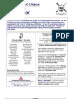 Newsletter 25 Sept 2009