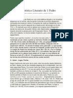Contexto Histórico Literario de 1Pedro