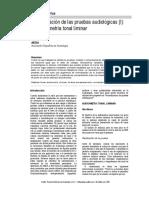 normalización de las pruebas audiologicas (I)