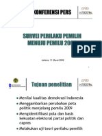 Survey Perilaku Pemilih Menuju Pemilu 2009