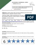 Guía N°1 Matemática 1° básico