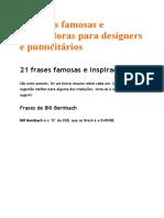 21 frases famosas e inspiradoras para designers e publicitários