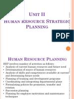 Unit II Human Resource Strategic Planning  (1)