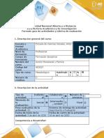 Guía de actividades y rubrica de evaluación - Paso 1 - Reconocimiento del curso..