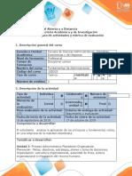 Guía actividades y rúbrica evaluación - Tarea 2 -  Proceso Administrativo- Planeación- Organización
