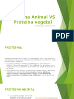 Proteina animal vs proteina vegetal