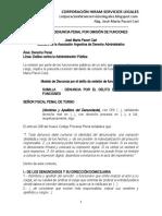 Modelo Denuncia Penal Omisión de Funciones - Autor José María Pacori Cari