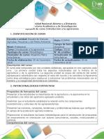 Syllabus del curso Introducción a la Agronomía