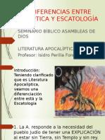 DIFERENCIAS apocalíptica-escatologia