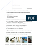 Taller Materiales Metálicos y Aleaciones
