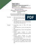 SK Pengangkatan sekretaris komite medik RSKMPV