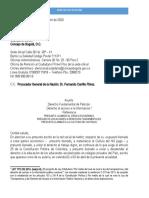 Derecho de peticion  CONCEJAL DE BOGOTAì