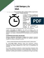 Actividad 3.-La gestión del tiempo y la productividad