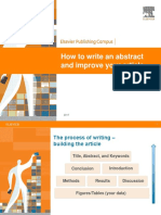 How to write an abstract that improves your article