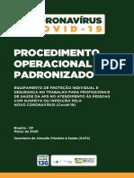 CORONAVÍRUS COVID-19 Procedimento Operacional Padronizado