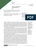 Emergência Do Novo Coronavírus (SARS-CoV-2) e o Papel de Uma Vigilância Nacional Em Saúde Oportuna e Efetiva