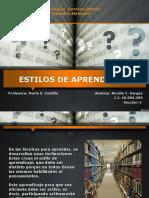 Diapositivas sobre Estilos de Aprendizaje
