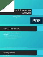 Financial Information Analysis - Target