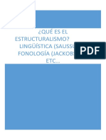 QUÉ ES EL ESTRUCTURALISMO