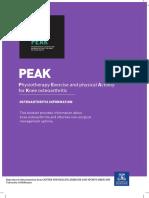 PEAK Osteoarthritis Information