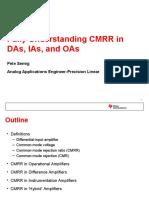 Fully Understanding CMRR-Taiwan-2012