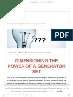 Dimensioning the power of a generator – Tecnics Carpi.pdf