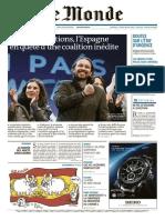 Le Monde Du Mardi 22 Décembre 2015