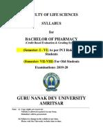 B PHARMACY CBEGS 2019-20
