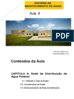 Aula 8 - Sistema de Abastecimento de Agua -Rede de Distribuicao de Agua