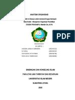 Manajemen organisasai Pendidikan berkaitan dengan islam