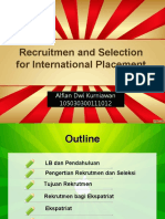 requitmen and selection for international placement
