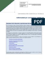 Document científicotècnic sobre el coronavirus