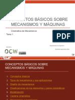 Conceptos básicos sobre mecanismos y máquinas