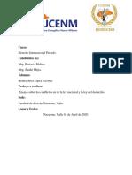 Ensayo Conflictos Entre La Ley Nacional  y La Ley Del Domicilio