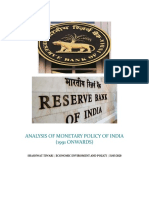 ANALYSIS OF MONETARY POLICY OF INDIA (Autosaved)