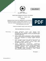 Perpres No 52 tahun 2020 - Pembangunan Penampungan Covid-19 di Pulau Galang