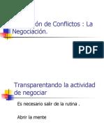 Resolución de Conflictos La Negociación