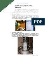 control de calidad en obra informe fotográfico